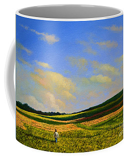 Crossing The Field Coffee Mug