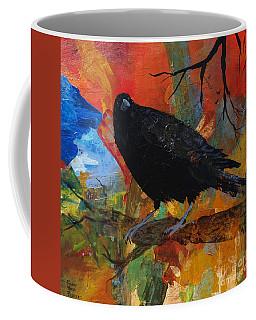 Crow On A Branch Coffee Mug