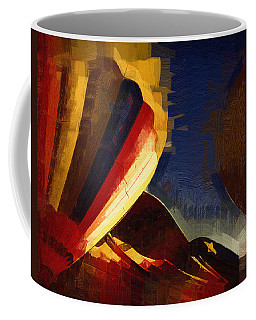 Coffee Mug featuring the digital art Crowd Confusion by Kirt Tisdale