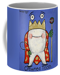 Coffee Mug featuring the painting Crowned Tooth by Anthony Falbo