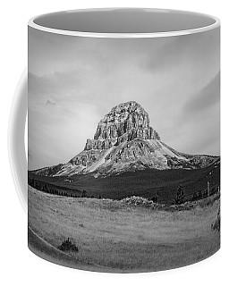 Crowsnest Mountain Black And White Coffee Mug