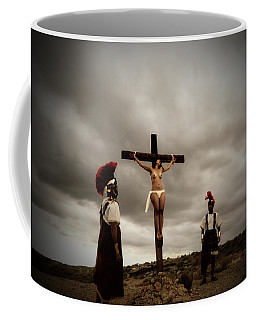 Crucifixion Scene Of Roman Movie Coffee Mug