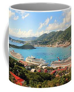 Cruise Ships In St. Thomas Usvi Coffee Mug