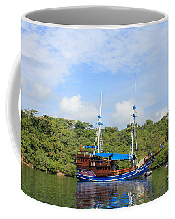 Coffee Mug featuring the photograph Cruising Yacht by Sergey Lukashin
