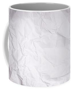 Crumpled Paper Background Coffee Mug