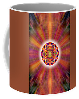 Coffee Mug featuring the drawing Crystal Ball Of Light by Derek Gedney