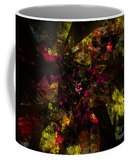 Coffee Mug featuring the digital art Crystal Inspiration #1 by Olga Hamilton