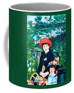 Csmaza And Lldm Version Of Renoir's Two Sisters On The Terrace Coffee Mug by Lorna Maza