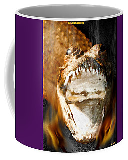 Coffee Mug featuring the digital art Cuban Crocodile by Daniel Janda