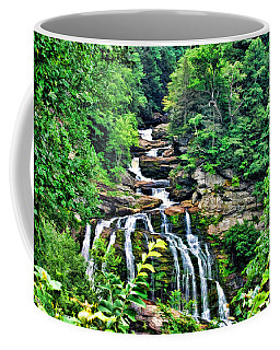 Coffee Mug featuring the photograph Cullasaja Falls by Kenny Francis