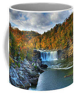 Coffee Mug featuring the photograph Cumberland Falls In Autumn by Mel Steinhauer