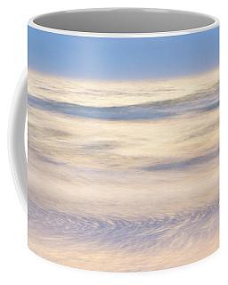 Cumulus Clouds Reflecting In Calm Sea Coffee Mug