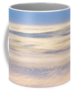 Cumulus Clouds Reflecting In Calm Sea Coffee Mug