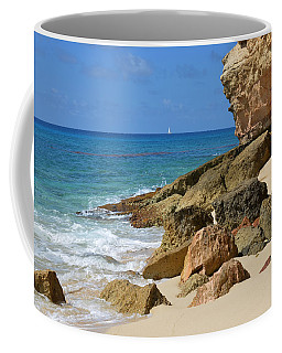 Cupecoy Bay Sailboat Coffee Mug