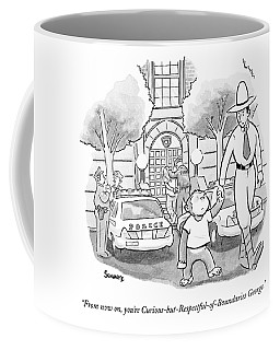 Curious George Is Escorted Out Of A Police Coffee Mug