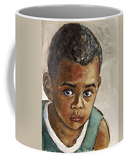 Curious Little Boy Coffee Mug
