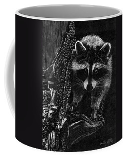 Curious Raccoon Coffee Mug