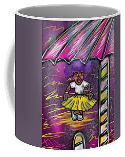 Curtsy Doll Rain Coffee Mug