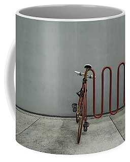 Curved Rack In Red - Urban Parking Stalls Coffee Mug