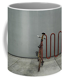Curved Rack In Red - Urban Parking Stalls Coffee Mug by Steven Milner