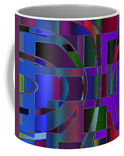 Coffee Mug featuring the digital art Curves And Trapezoids 2 by Judi Suni Hall