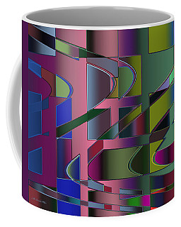 Coffee Mug featuring the digital art Curves And Trapezoids 3 by Judi Suni Hall