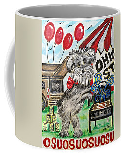 Coffee Mug featuring the painting Osu Tailgating Dog by Diane Pape