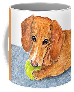 Dachshund With Tennis Ball Coffee Mug