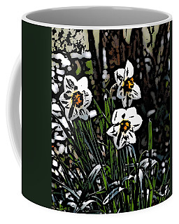 Coffee Mug featuring the digital art Daffodil by David Lane