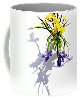 Daffodils And Iris Coffee Mug by Tracy Male