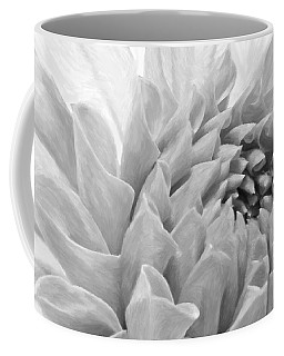 Coffee Mug featuring the photograph Dahlia Petals - Digital Pastel Art Work  by Sandra Foster