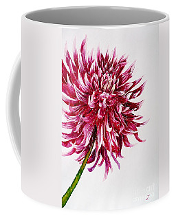Dahlia Coffee Mug by Zaira Dzhaubaeva