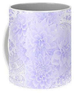 Coffee Mug featuring the photograph Dahlias In Soft Blue by Sandra Foster
