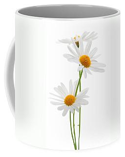 Daisies On White Background Coffee Mug