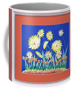 Coffee Mug featuring the painting Daisies by Ron Davidson