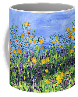 Daisy Days Coffee Mug by Regina Valluzzi