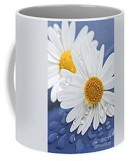 Daisy Flowers With Water Drops Coffee Mug