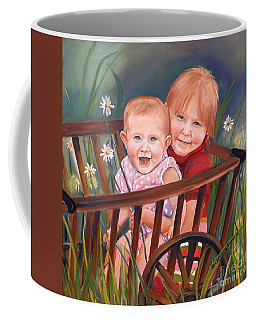 Daisy - Portrait - Girls In Wagon Coffee Mug by Jan Dappen