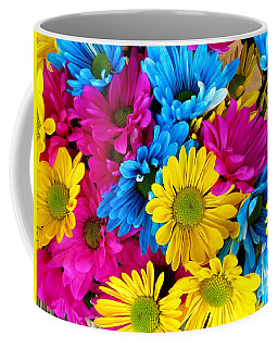 Daisys Flowers Bloom Colorful Petals Nature Coffee Mug by Paul Fearn