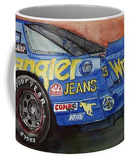 Dale Earnhardt's 1987 Chevrolet Monte Carlo Aerocoupe No. 3 Wrangler  Coffee Mug by Anna Ruzsan
