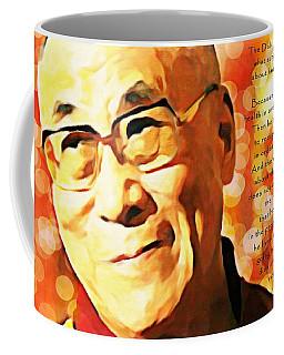 Dali Lama And Man Coffee Mug by Barbara Chichester