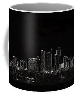 Coffee Mug featuring the photograph Dallas Glow Skyline by Ellen O'Reilly