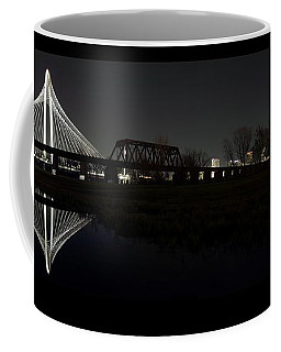 Dallas Skyline Hunt Bridge Color Coffee Mug