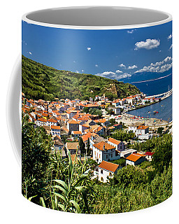 Dalmatian Island Of Susak Village And Harbor Coffee Mug