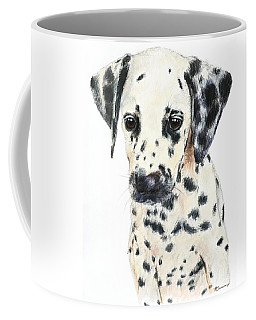Dalmatian Puppy Painting Coffee Mug by Kate Sumners