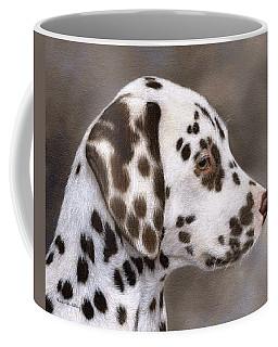 Dalmatian Puppy Painting Coffee Mug by Rachel Stribbling