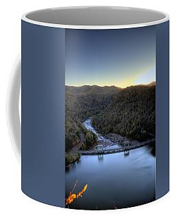 Coffee Mug featuring the photograph Dam Across The River by Jonny D