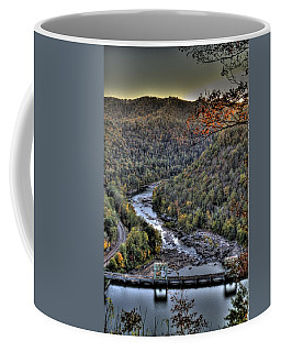 Coffee Mug featuring the photograph Dam In The Forest by Jonny D