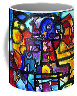 Dance Of The Gauge Bosons In Vacuum Coffee Mug by Regina Valluzzi