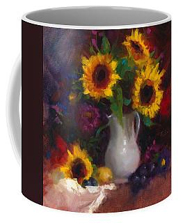 Dance With Me - Sunflower Still Life Coffee Mug
